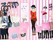 Click to Play Pink Wallpaper Dress Up