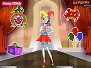 Click to Play Billy Clown Girl Dressup