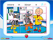 Click to Play Caillou Rotate Puzzle